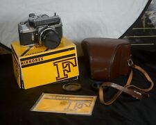 Untested Nikkorex f with box and 35mm lens/accessories with original box.