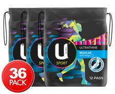 3 x U By Kotex Ultrathins Pads Sport Regular 12pk