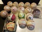 17+Vintage+Baseballs+Lot%2C3+Major+League%2C1+N.L.%2C2+Peoria%2C+5+P.C.L.%2CMacGwire%2CSmolt