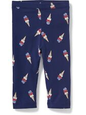 NWT 18-24 MON. ADORABLE OLD NAVY ICE CREAM LEGGINGS BLUE RED PURPLE GIRLS GIFT!