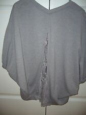 BRAND NEW FRANCHE LIPPEE GREY BACK LACE CARDIGAN MADE IN JAPAN