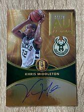 2016-17 Panini Gold Standard Basketball Khris Middleton auto on card Gold 79 AU