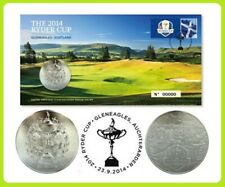 Rare 2014 Ryder Cup Medal Cover Golf Stamp Royal Mint Limited Edition Collector