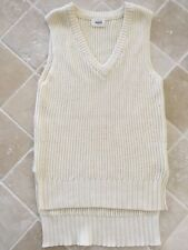 WOMENS SEED HERITAGE SLEEVELESS KNITTED TANK TOP, SIZE XS, COTTON ,CREAM, # 1153