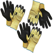3 Pairs Of Sperian Heavy Duty Nitrile Coated Atlas Work Gloves Made With Kevlar