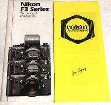 Vtg Camera Sales Brochure Lot, Nikon F3 Series And Cokin Creative Filter System