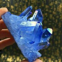 UK Natural Blue Crystal Quartz Cluster Stone Mineral Healing Specimen Decor Gift