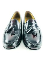 Cole Haan Nike Air Burgundy Leather Tassel Men's Slip On Shoes Sz 11.5M Lot A
