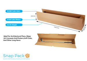 1-20 x Packing Moving Cardboard Boxes,Map Box,Fits Golf Clubs Instruments Long