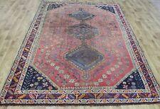 ANTIQUE PERSIAN SHIRAZ  QASHQAI RUG 8'4 x 6 FT CIRCA 1890