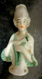 1930's  Art Deco CosyTop Doll Hand Painted Lovely Old Porcelain Lady Collectable
