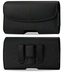 Agoz Leather Belt Clip Pouch for iPhone 12 PRO 11 XS XR X 8 FITTED WITH Otterbox