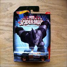 Hot Wheels ULTIMATE SPIDER-MAN Rhino REPO DUTY Marvel 9/10 Mattel New diecast