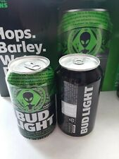 2019 Bud Light Storm Area 51 Alien Can Sealed Top Bottom Opened Empty Clean
