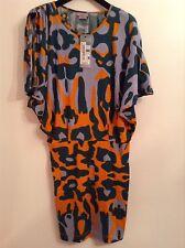 Bnwt 100% AUTH Miss Sixty Multicolore BAT Design abito. XS RRP £ 140.00