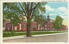 Old Vintage Chillicothe High School In Chillicothe Ohio Linen Postcard