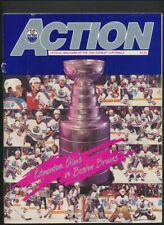 1989-90 Edmonton Oilers Hockey Program  May 20/90  Stanley Cup Finals vs Boston