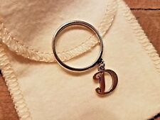 James Avery Initial LETTER D Charm SMOOTH DANGLE RING RETIRED SIZE 9.5 9 1/2 BOX