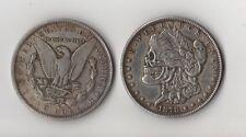 Novelty Fantasy Coin 1878 CC Morgan Dollar With Skull Zombie Head