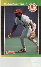 FREE SHIPPING-MINT-1989 Donruss St. Louis Cardinals Baseball #418 Pedro Guerrero