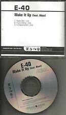E 40 e-40 w/ AKON Wake it up 3TRX INSTRUMENTAL & ACAPELLA PROMO DJ CD single e40
