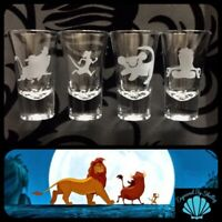Personalised The Lion King Shot Glasses Set Of 4 Birthday Hen Do Wedding Gift