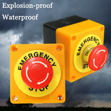 2X Red Sign Mushroom 1 NO 1NC 660V Emergency Stop Push Button Switch