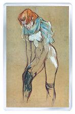 HENRI DE TOULOUSE LAUTREC 1894 FEMME QUI TIRE SON BAS FRIDGE MAGNET IMAN NEVERA