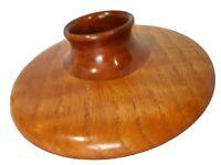 """Hand Carved Turned 7"""" Hardwood Artisan Vase Studio Wood"""