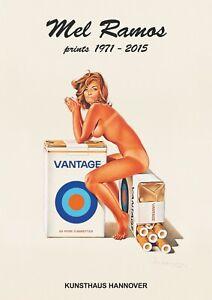 Mel Ramos, original Ausstellungsplakat - 2015 - Motiv: Tobacco Red - Neu