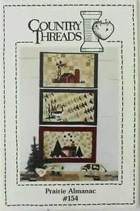 "Country Threads Prairie Almanac 12""x20"" Goose Barn House Quilt Pattern"