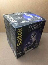 Boxed Saitek Cyborg 3D Platinum Flight Stick - PC (TESTED/WORKING) Joystick
