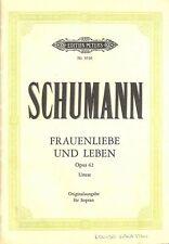 Schumann Robert - Frauenliebe + Leben Op 42. Gesang, Klavier Musiknoten