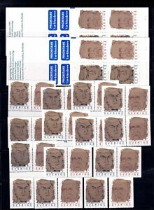 SWEDEN, Collection of stamps and booklets with face value (= 413kr = 40,94€) MNH