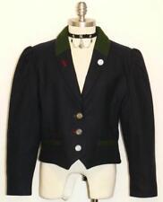ALPHORN ~ WOOL BLUE Women German Career Dress Winter Riding Suit JACKET 42 12 M