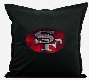 San Francisco 49ers Cover Sofa Throw Pillow Case 18X18 Chair Couch Rhinestone