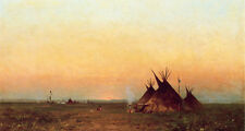 """high quality 48x24 oil painting handpainted on canvas """"Encampment """"@NO5950"""