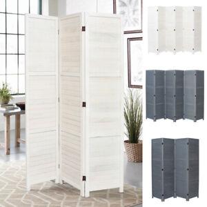 Wooden Slat Privacy Screen 3/4/6 Panels Folding Room Divider Partition Furniture