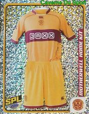 324 HOME KIT SCOTLAND MOTHERWELL.FC STICKER SCOTTISH PREMIER LEAGUE 2010 PANINI