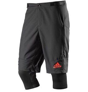 Adidas Trail Bib Shorts Cycling Radhose Tight Hose Pant Fahradhose schwarz XS 42