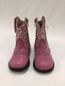 Infant Girls Roper Pink Leopard Glitter Boots