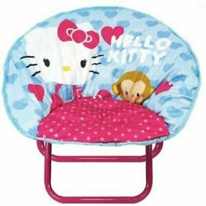 "Hello Kitty Mini Saucer Chair Character Toys Kids 18""L x 18""W x 18""H"