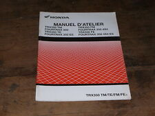 MANUEL ADDITIF REVUE TECHNIQUE D ATELIER HONDA TRX 350 TM TE FM FE FOURTRAX 2004
