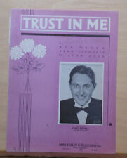 Trust In Me - 1936 sheet music - Carl Ravell photo on cover