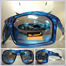 a585de2b2f3 WRAP AROUND SPORT CYCLING FISHING GOLFING DRIVING CASUAL SUN GLASSES Blue  Frame
