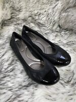 Abella Women's Black Wedges Shoes Size 9.5
