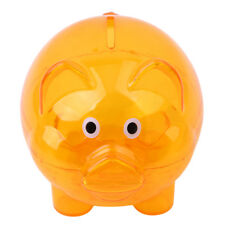 Cute Clear Glass Piggy Bank Coin Money Cash Collectible Saving Box Kids Gifts