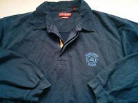 Mens Navy Blue Long Sleeve Rugby Shirt XL
