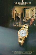 ▬► PUBLICITE ADVERTISING AD MONTRE WATCH VACHERON CONSTANTIN  1992