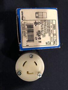 Leviton 2323 Twist Lock Connector 20A 250V  L6-20R 2-Pole 3-Wire